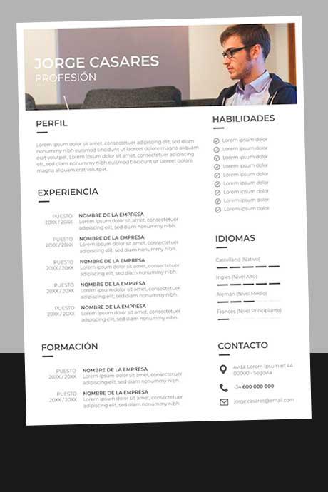 Ejemplo Currículum Vitae Profesional para Descargar Gratis