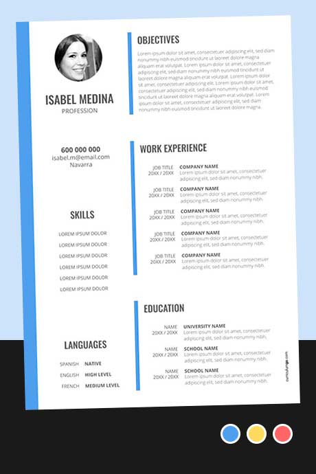Modelo Currículum Vitae en Inglés para Descargar Gratis